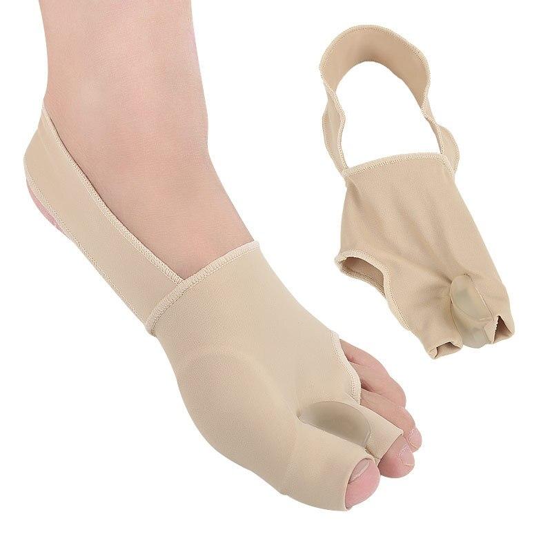2Pcs=1Pair Toe Separator Hallux Valgus Bunion Corrector Straightener Bandage Hallux Valgus Corrector Foot Care Orthosis Support