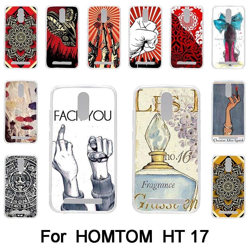 №Para homtom HT17 HT 17 suave silicona TPU teléfono móvil cubierta ...
