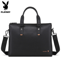 Playboy Luxury Brand Leather Men Laptop Bag Briefcase Fashion Men S Office Business Bags Casual Leather