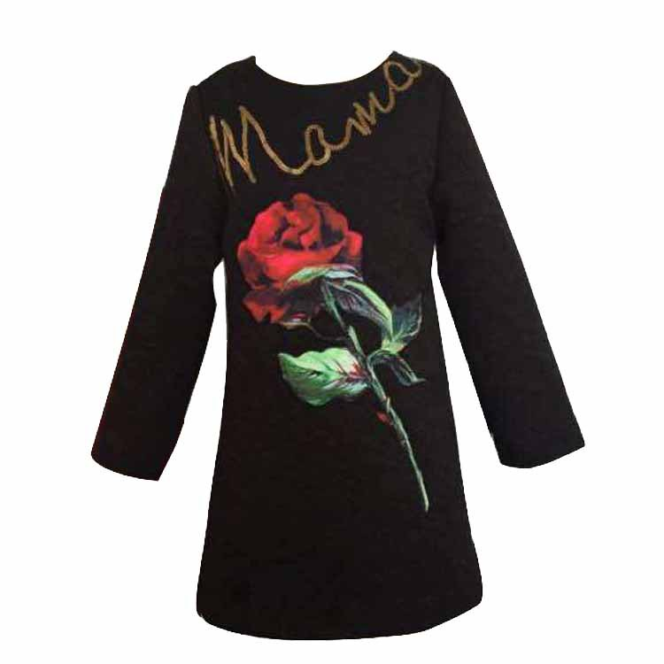 wlmonsoon brand 2016 winter new europe embroidery children princess dress pure cotton long sleeve sequined party