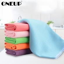 ONEUP 3 шт Чистящие Салфетки абсорбент для кухни тряпка для мытья посуды кухонное полотенце для мытья домашнего стеклянного стола окно