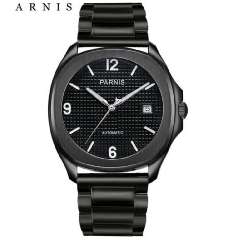 Parnis Automatic Watch 40mm Deployment Clasp Miyota Sapphire Black Dial Mechanical Watches relogio masculino Gift Parnis Automatic Watch 40mm Deployment Clasp Miyota Sapphire Black Dial Mechanical Watches relogio masculino Gift