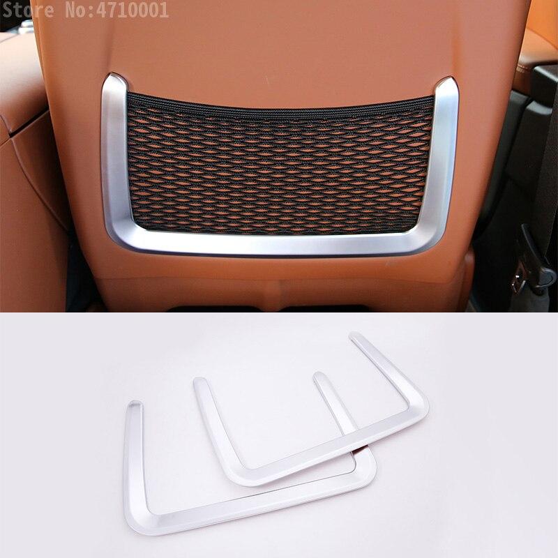 ABS siège de voiture arrière siège de stockage Net sac cadre garniture pour Maserati Ghibli 2014-2017 pour Levante 2016 accessoires 2 pièces
