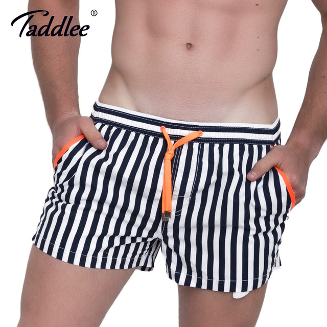 d196f7fa46 Taddlee Brand Fashion Men's Beach Board Shorts Trunks Quick Drying Plus  Size Boxer Trunks Men Swimwear