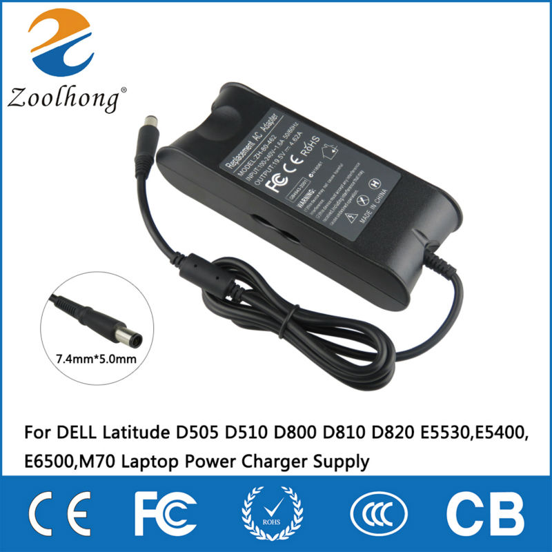 19.5V 4.62A 90W AC Adapter für DELL Latitude D505 D510 D800 D810 D820 E5530, E5400, E6500, M70 Laptop Power Charger Supply