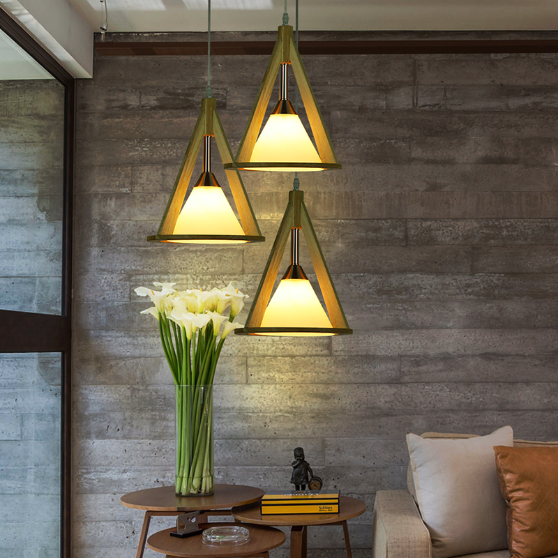 The three Japanese Pendant Lights Restaurant head lamp and creative wooden tatami log wood LED lamp LU729337 japanese style tatami floor lamp aisle lights entrance corridor lights wood ceiling fixtures tatami wood ceiling aisle promotion