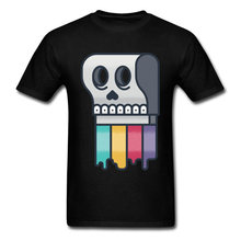 Funny 2018 Skull Squeegee Men Black Tee Shirt Cartoon T Novelty Design Teens Birthday Gift Clothing Personalized
