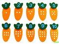 Carrot Points Number Kindergarten Regional Activity Non-woven Material Weaving Manual Playing Toys Children Learning Education