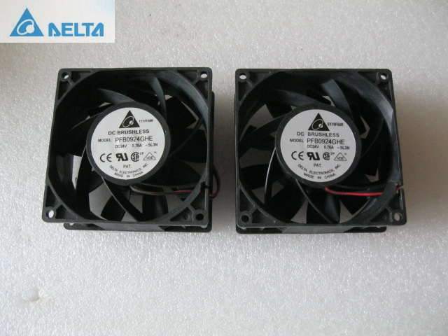 Delta fan PFB0924GHE -5L3N fan 9cm 90mm ABB inverter fan 92 * 92 * 38mm DC 24V 0.76A cooling fan genuine spare parts abb acs800 90 90 38mm 24v 0 32a 2 line waterproof fan pq1 3615 kl 05w b50