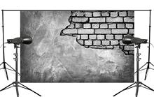 Cracked Wall Showing Hidden Brick Photo Background Child Studio Retro Photography Backdrop 5x7ft