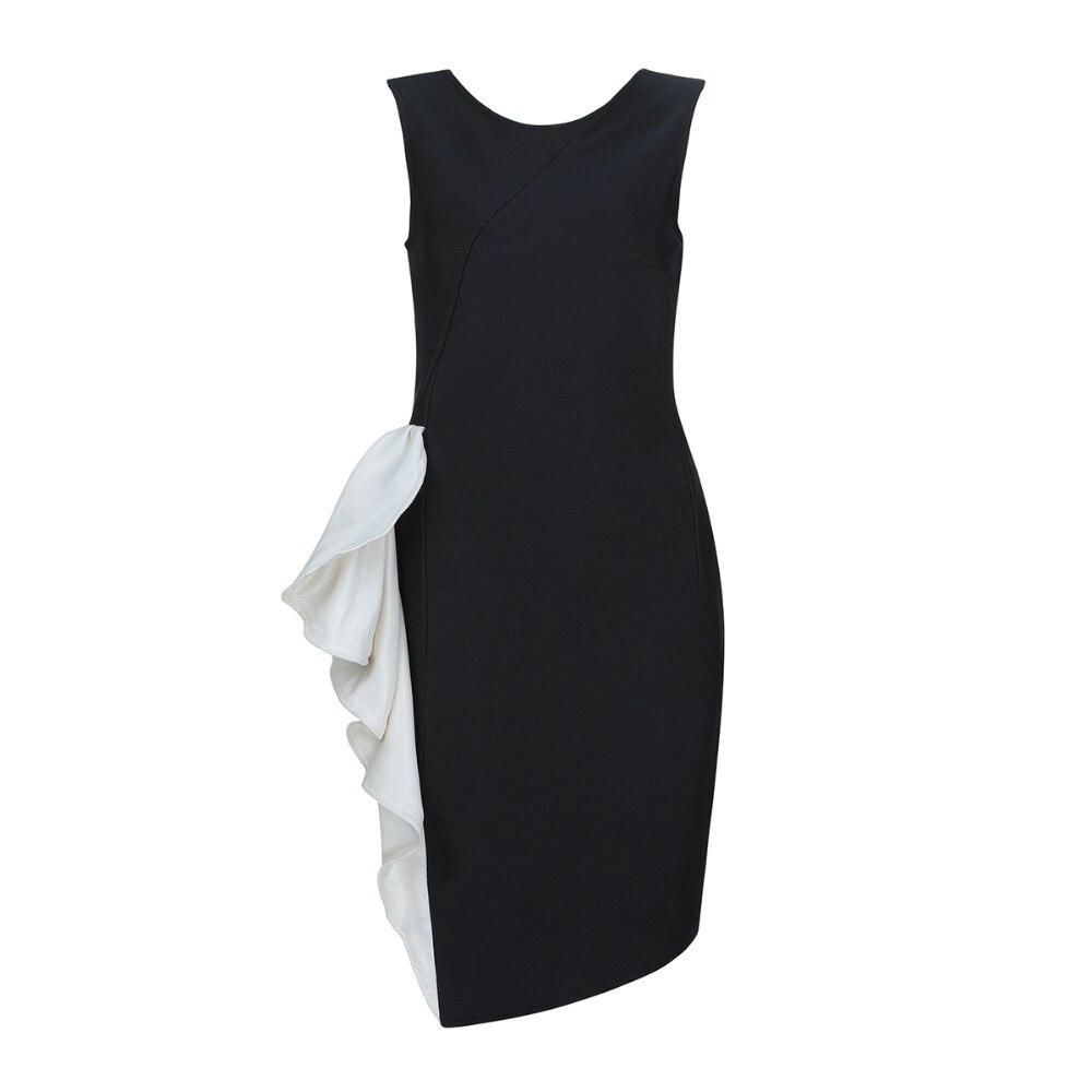 4a73722487 Nouvelles-Dames-Sexy-O-Cou-Noir-Bandage-Robe-2019-Tricot-lastique-Parti-Robe .jpg