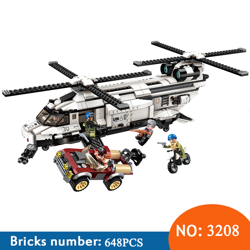 Enlighten 3208 650pcs Military War City Double Paddle Helicopter Thunder Mission Army Building Blocks Toys For ChildrenEnlighten 3208 650pcs Military War City Double Paddle Helicopter Thunder Mission Army Building Blocks Toys For Children