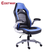 COSTWAY Racing Computer Gaming Chair Armchair Executive Chair High Back Lift Chair Swivel Chair Office Furniture HW52434