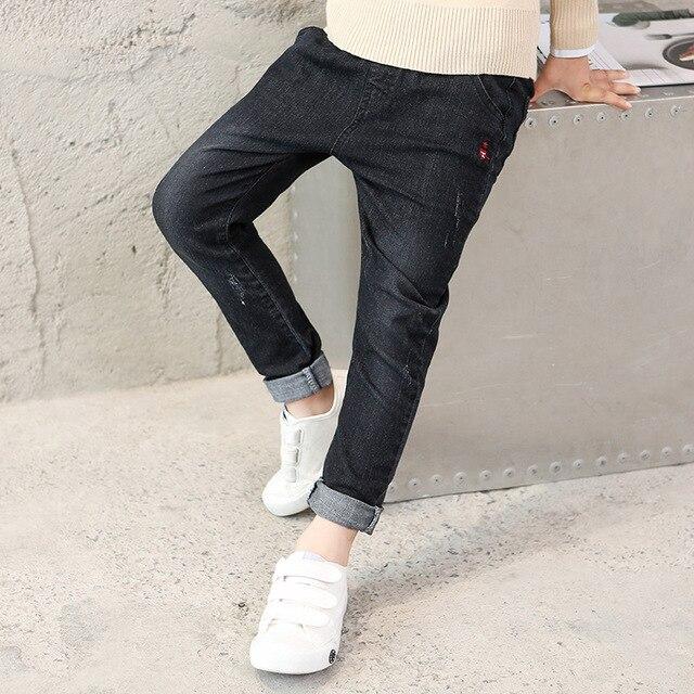 Negro Niños Pantalones Vaqueros Ocasionales Del Otoño Niños del Dril de algodón  Pantalones Harén Adolescentes Bebé 01797b83be6