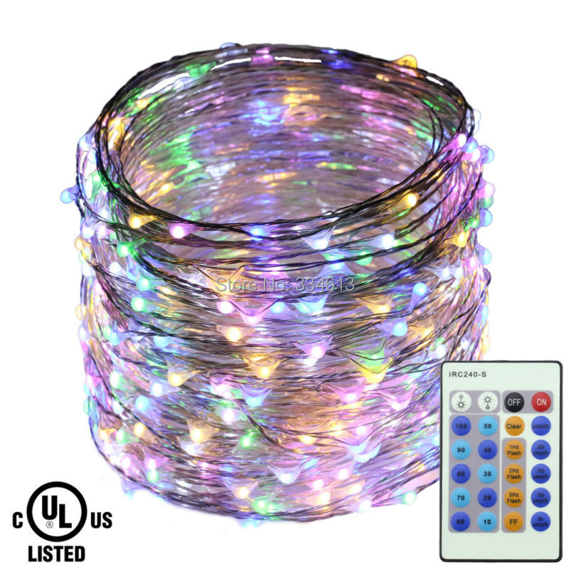 40M/131FT 400LEDs Outdoor Flash Fairy Lights Silver Wire Dimmable LED Starry String Lights + Certified Adapter(UK,US,EU) Control