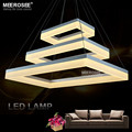 Modernas Luzes Lustre de LED Acrílico 3 Retângulos LEVOU Luz Lâmpada de Suspensão para Sala de estar Sala de Jantar novo singular Lustre