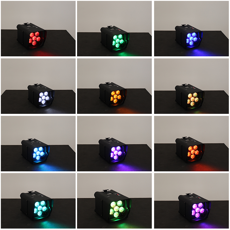 LED battery Par Light with 6Pcs Lamp Beads 18W RGBW 6 IN 1 WiFi And Remote Control For Home Party Night Club Event DJ Decoration in Stage Lighting Effect from Lights Lighting