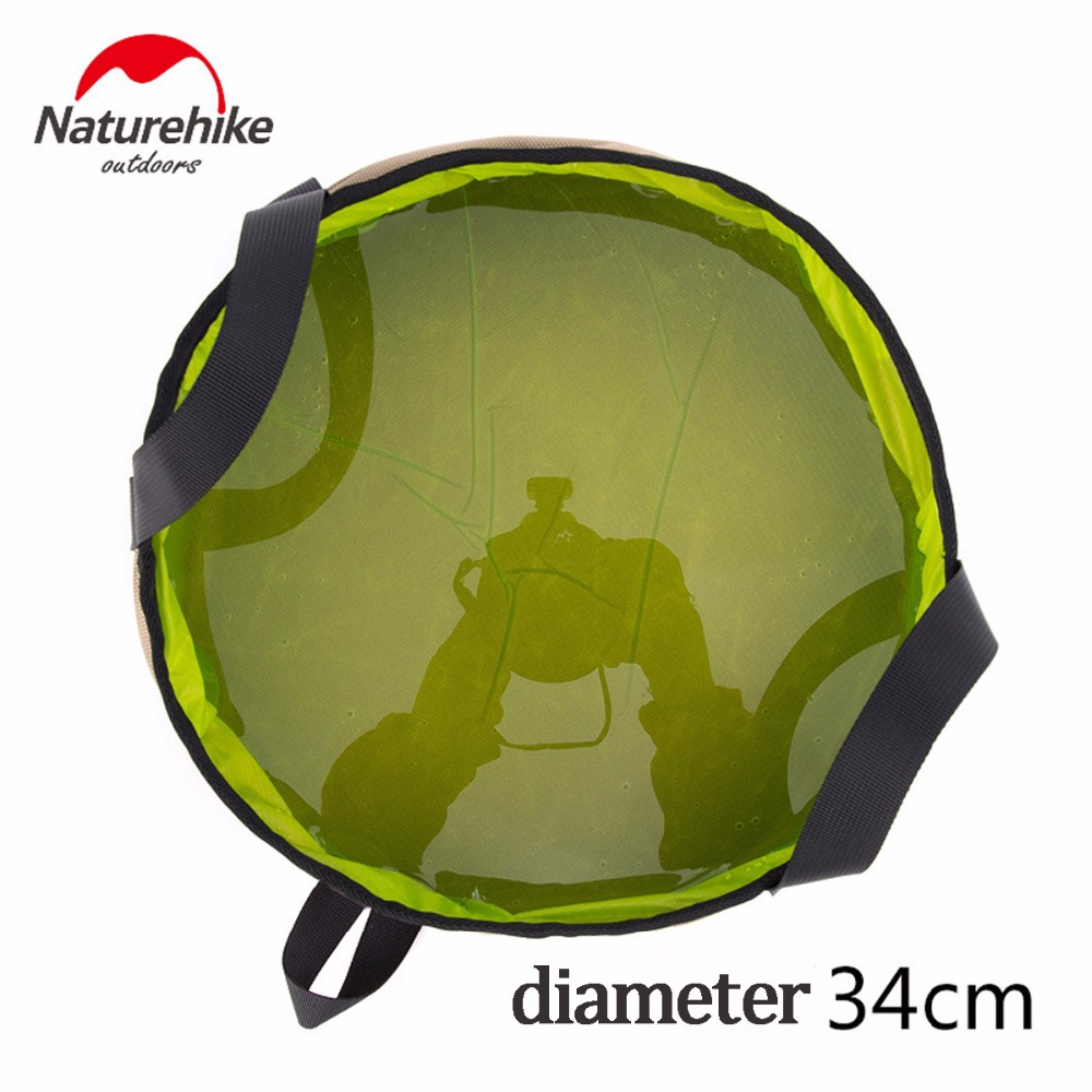 Image 3 - NatureHike Outdoor EDC Portable 10L Foldable Water Washbasin Ultralight Camping Basin Survival Water Bucket Foot Bath 3 Colors-in Water Bags from Sports & Entertainment