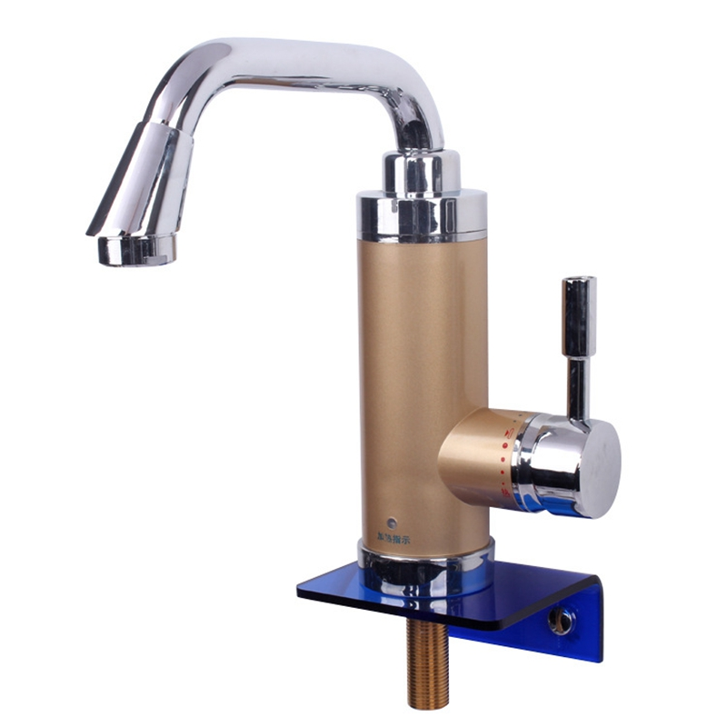 DMWD 3000W Electric Kitchen Water Heater Tap Instant Hot Water Faucet Heater Cold Heating Faucet Tankless Instant Water Heater instant tankless electric water heater kitchen electrical hot water faucet white household wash the dishes ac 220v 3000w