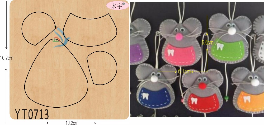 Little Mouse DIY New Wooden Mould Cutting Dies For Scrapbooking Thickness/15.8mm/YT0713