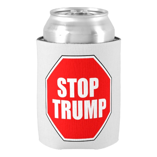 Stylish Fantastic Customizable STOP font b TRUMP b font CAN COOLER Chic Personalized Beer Insulators Holders