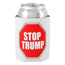"Stylish Fantastic Customizable ""STOP TRUMP"" CAN COOLER Chic Personalized Beer Insulators Holders Home Family Members Supplies"