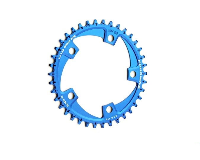 FOURIERS BCD 110MM road bike Chainring 1x system Narrow-wide teeth Chainwheel Bicycle Crankset 38-42T bdsnail bike bicycle suit sets crankset crank chainwheel 30t 32t 34t 7075 cnc narrow wide chainring for gxp xx1 x9 xo x01 cnc al