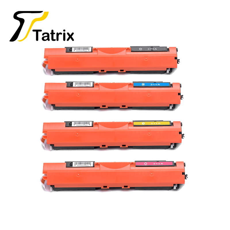 Tatrix 1PCS CE310A 311A 312A 313A Toner Cartridge For HP126A 126A 126 For HP Laserjet Pro CP1021 CP1022 CP1023 CP1025 CP1025nw