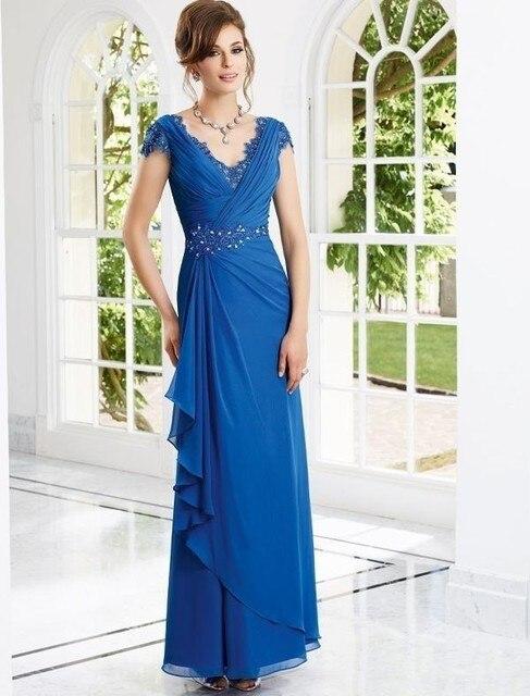 Vestido boda azul noche