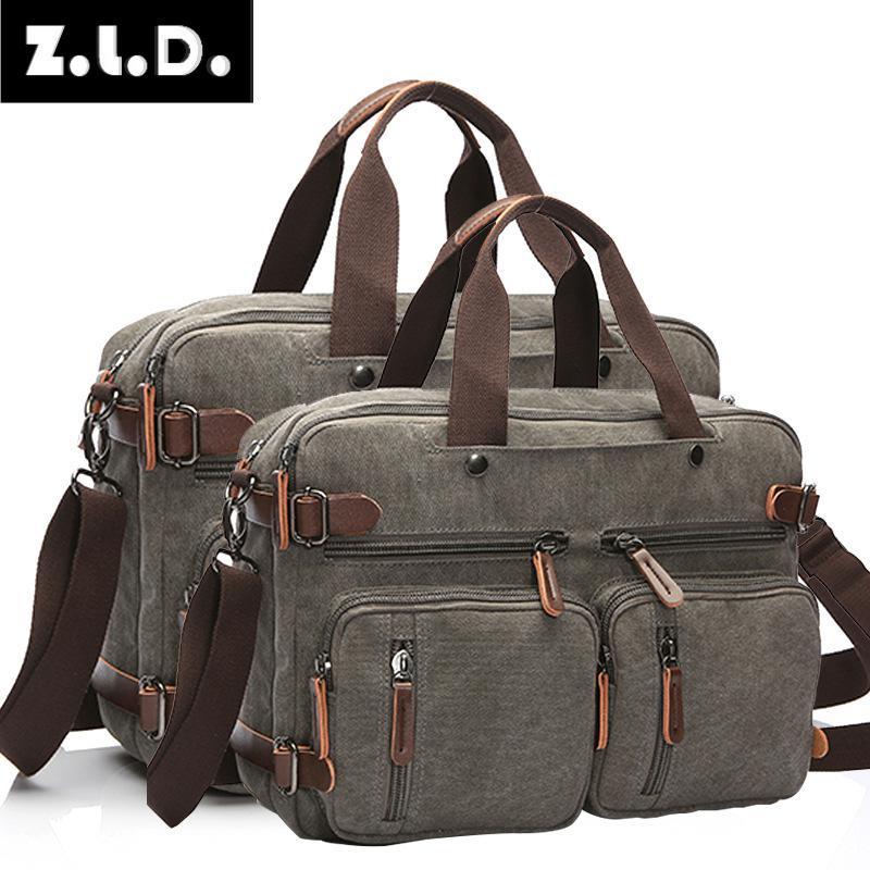 Male Handbags Briefcase Tote-Bag Canvas-Bag Messenger-Bag Business Multifunctional Large-Size