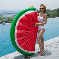 Venta Flotador inflable para piscina de media sandía de 180x90 cm, Flotador para piscina, Flotador para tumbona para playa, juguete de diversión con agua, flotador de fruta, tumbona para colchón de aire