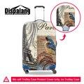 Effilé torre dispalang estilo vintage 3d impresso anti-poeira mala mala de viagem bagagem cobre durável caso capa protetora para o tronco