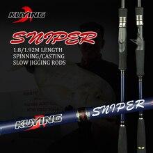 KUYING Sniper 1.8m 1.92m Licht Langzaam Jigging Rod Casting Spinning Lokken Carbon Fiber Zee Hengels Riet Vis pole 1.5 Secties