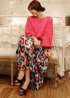 2013 summer one-piece dress big skirt leopard print sexy bohemia sleeveless one-piece dress