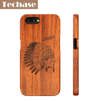 Techase Luxury Full Wooden Design Phone Cases For Oneplus5 360 Degree Protective Hard Back Cover For