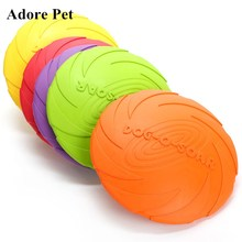 Adore Educational High Quality Eco-friendly Pet Product Natural Rubber Material Pet Dog Toy Flying discs Frisbee Dog Training(China)
