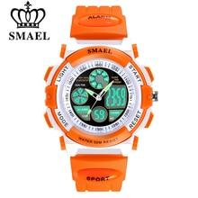 SMAEL Children 50m Waterproof Watches Cute Kids Sports Cartoon Watch for Girl Boys Rubber Band Digital LED Wristwatch Reloj