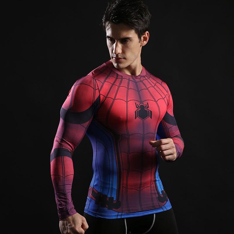 Nieuwe Arrivel T-shirts Spiderman Ironman Kapitein Compressie Tops - Herenkleding - Foto 3