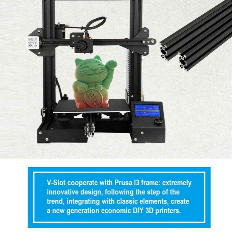 Zrprinting el más nuevo A 13 Kit de bricolaje 3D impresora de gran tamaño I3 mini impresora 3D continuación Impresión de potencia Creality 3D - 6