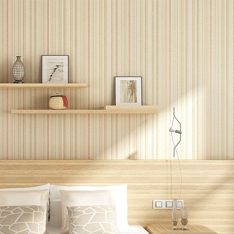 Nordic Simple Color Vertical Stripes Non-Woven Wallpaper Bedroom Living Room Backdrop Eco-Friendly Wall Paper Papel De Parede 3D beibehang wall paper color wide vertical stripes bedroom living room mediterranean style low minimalist backdrop wallpaper