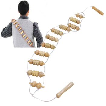 High Quality Back Massage Tools For Men Women Natural Wooden Wheel Waist Care Roller Personal Body Care Health Masager  FB 1
