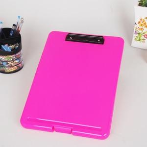 Image 3 - צבעים בוהקים רב תכליתי קובץ מקרה פלסטיק לוח קובץ תיקיית עם עט להחזיק ותלוי Holdes Creative ציוד משרדי