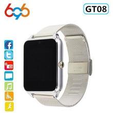 696 Smart Watch GT08 Plus Metal Clock With Sim Card Slot Pus