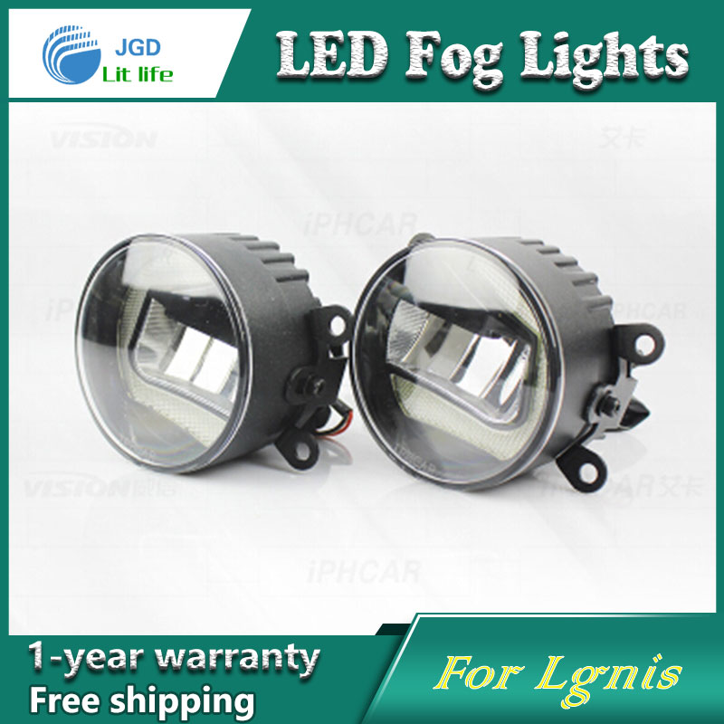 Super White LED Daytime Running Lights For Suzuki Lgnis Drl Light Bar Parking Car Fog Lights 12V DC Head Lamp 2pcs super bright white 9 led head front round fog light for all car drl off road lamp daytime running lights parking lamp