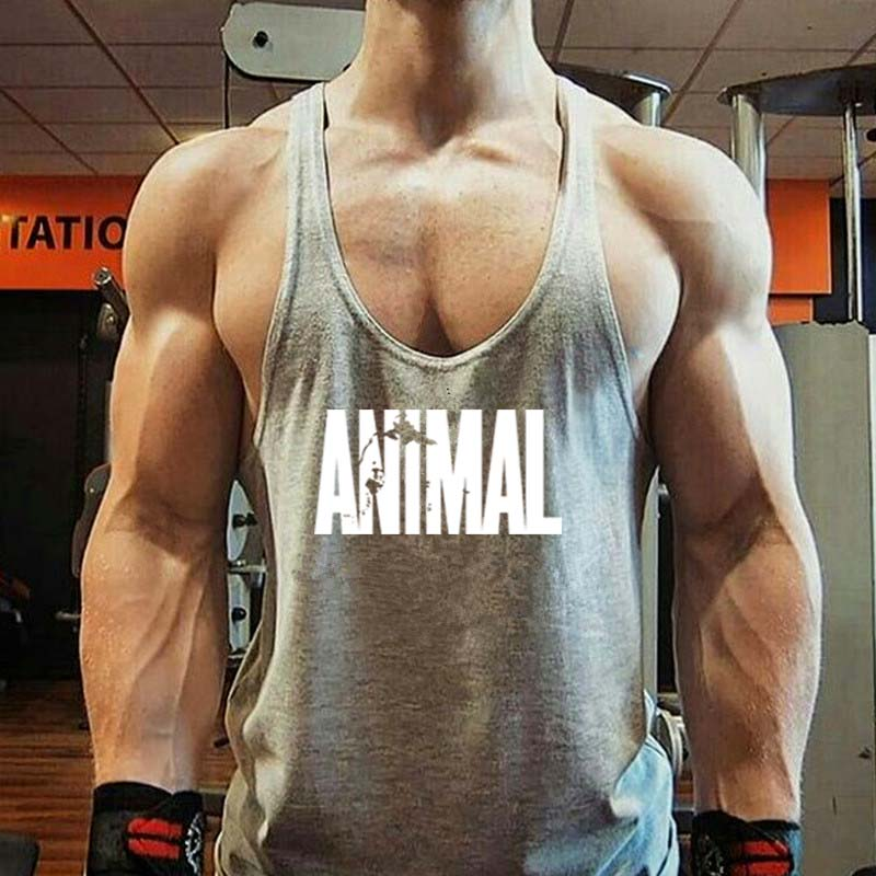 Men's Loose Recreational Fitness   Tank     Tops   Man Letter Print Casual Muscle Beauty Gymnasium Sleeveless Shirts   Tanks   Vests