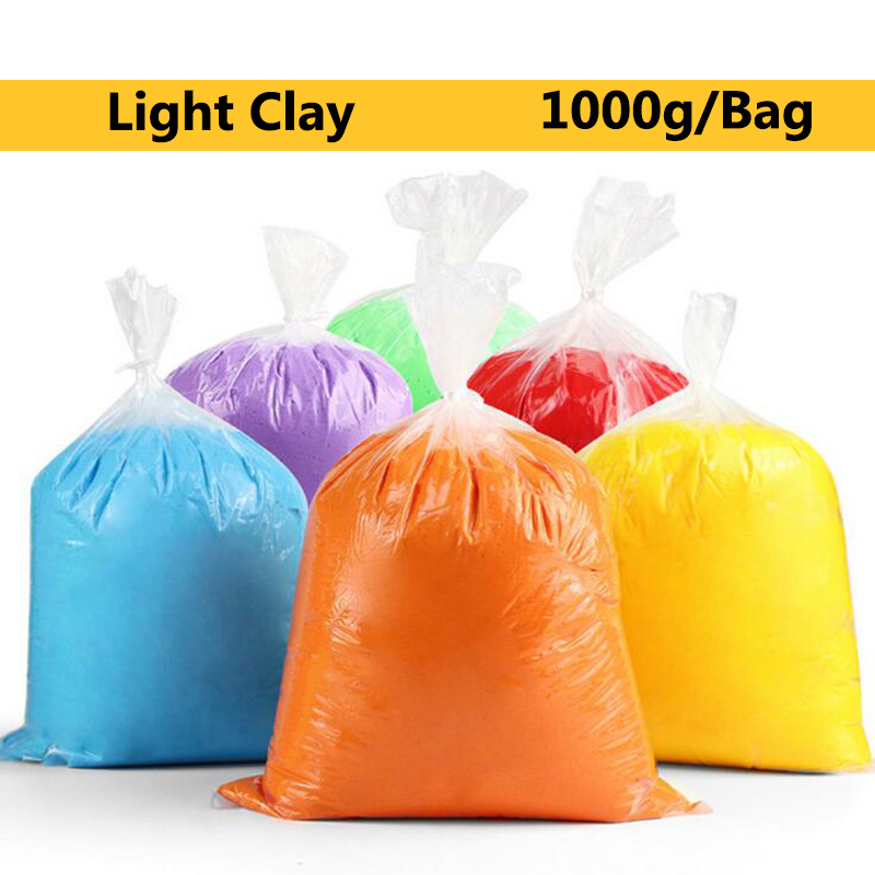 TOFOCO 1000 g/bolsa arcilla del polímero Super Light Clay Slime inteligente suave plastilina aprendizaje educación juguetes para niños