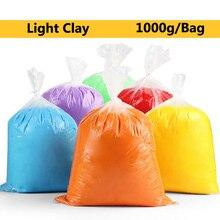 TOFOCO 1000 г/пакет Полимерная глина Super Light Clay слизь мягкие умный Пластилин обучения Образование игрушки для детей