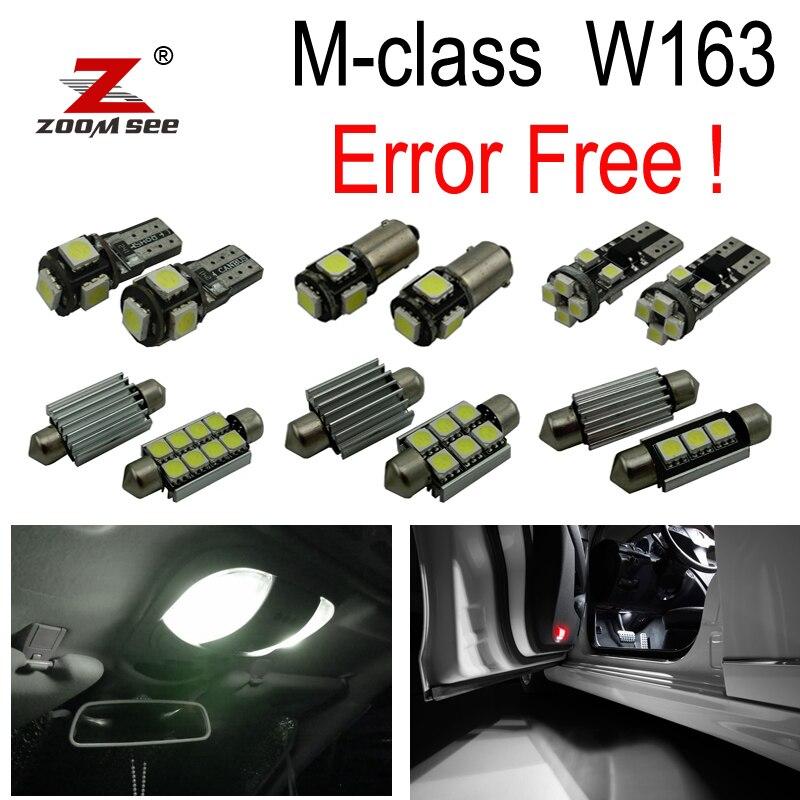 15 шт. светодиодный задний купольный светильник+ внутренний светильник для Mercedes-Benz M class W163 ML320 ML350 ML430 ML500 ML55 AMG 98-05