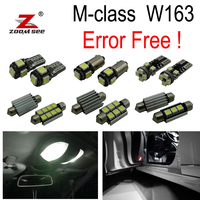 9pc X Error Free Mercedes Benz M Class W163 LED Interior Light Kit Package 2000 2005