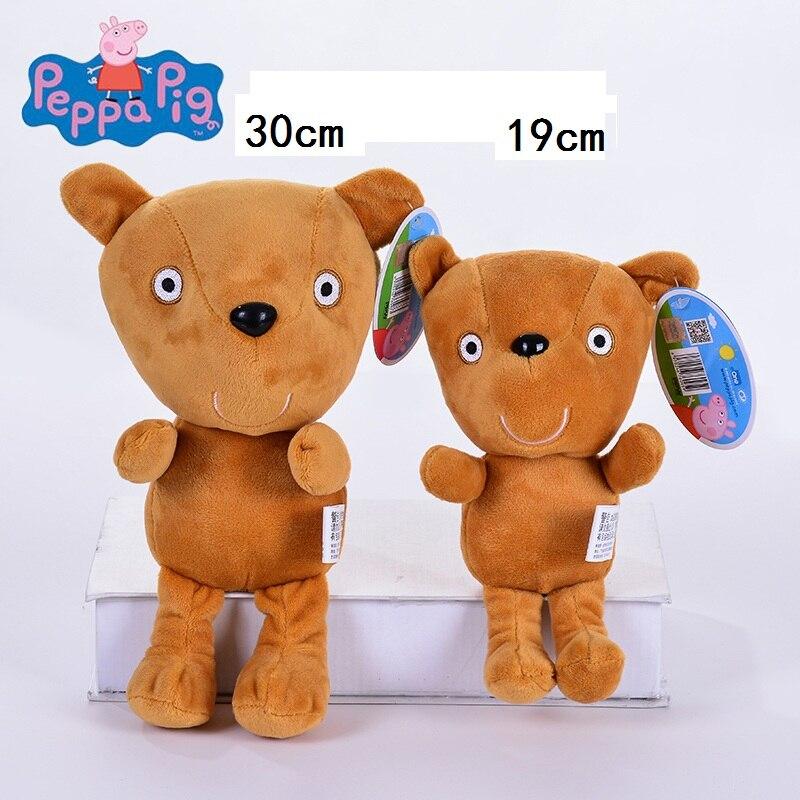 Genuine 1 PCS 30 centímetros de brinquedo De Pelúcia Peppa Peppa Teddy bear alta qualidade venda quente Fio Curto Porco Animal boneca Para Presente das Crianças
